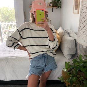 Cute Oversized Striped Sweater! 🤍